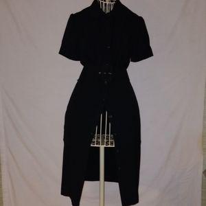 Banana Republic black button done dress with belt